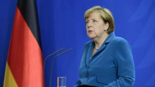Angela Merkel, lors d'une confrénce de presse à Berlin, le 23 juillet 2016.
