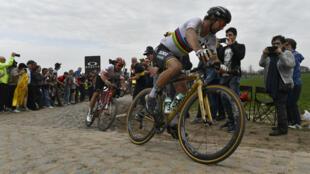 Le vainqueur de l'édition 2018 du Paris-Roubaix, Peter Sagan.