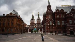 وسط موسكو في 8 أيار/مايو 2020