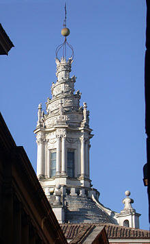 The lantern of Sant'Ivo alla Sapienza in Rome.