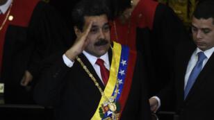Nicolas Maduro devant la Cour suprême de justice, à Caracas, le 24 janvier 2019.