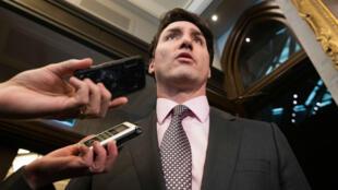 Le Premier ministre canadien lors d'une conférence de presse, le 27 février 2019.