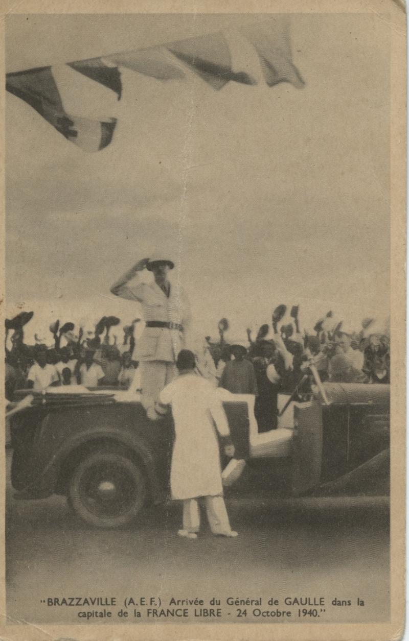 L'arrivée du général de Gaulle à Brazzaville, le 24 octobre 1940.