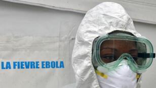 Un membre du personnel médical du Centre hospitalier universitaire de Yopougon, en Côte d'Ivoire, fait une simulation en cas d'arrivée du virus Ebola.