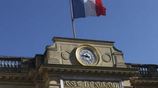 La façade de l'Assemblée nationale, à Paris.