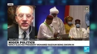 2021-04-02 13:11 Niger president Mohamed Bazoum to be sworn in after 'attempted coup'