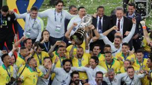 Brasil se consagro campeón ade la Copa América al vencer 3-1 a Perú, en el estario Maracaná de Río de Janeiro en Brasil, el 7 de julio de 2019.