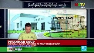 2021-02-01 12:00 Myanmar military television says military has taken control of the country for one year