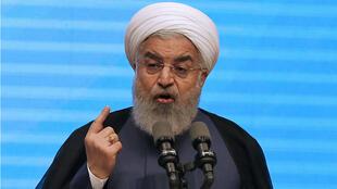 """Hassan Rohani a opposé mercredi 25 avril depuis Tabriz, dans le nord de l'Iran, une fin de non recevoir aux discussions sur un """"nouvel accord""""."""