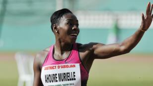 Le sprinteuse ivoirienne Murielle Ahouré est le porte-drapeau de son pays aux Jeux de Rio.