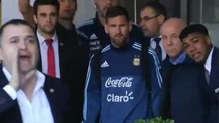 النجم الأرجنتيني ليونيل ميسي في مونتيفيديو (أوروغواي) في 29 آب/اغسطس 2017.