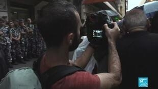 Tariq, a filmmaker volunteering for Lebanon's independent media organisation Megaphone.