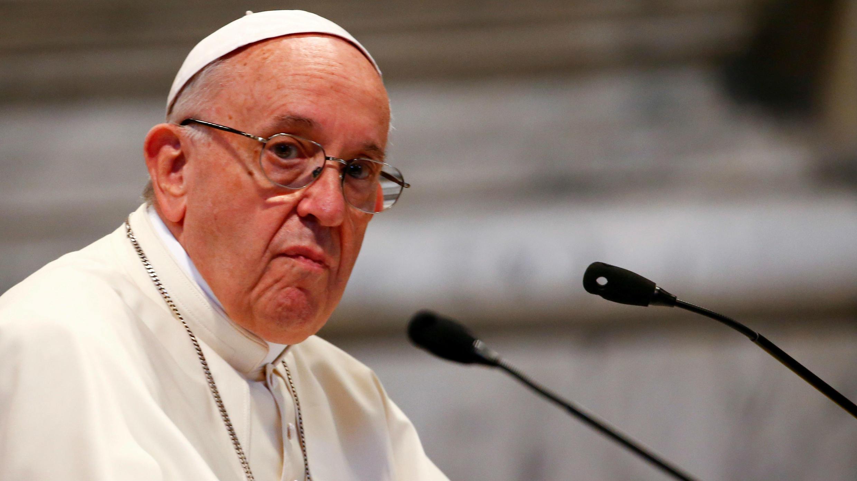 El Papa Francisco asiste a una reunión con fieles de la diócesis de Roma en la Basílica de San Juan de Letrán, en Roma, Italia, el 14 de mayo de 2018