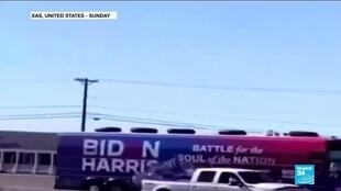 2020-11-02 13:15 FBI investigates claims Trump fans swarmed Biden campaign bus