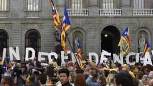 Une manifestation pro-indépendance à Barcelone, le 27 septembre 2014.