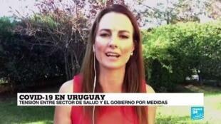 La Vuelta al Mundo de France 24, desde Montevideo, Uruguay, el 29 de marzo de 2020.