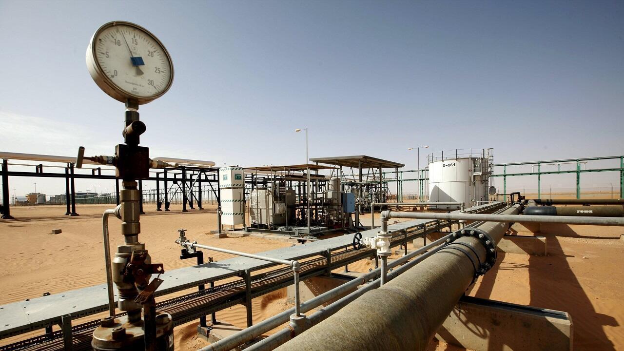 حقل شرارة النفطي. ليبيا 3 ديسمبر/كانون الأول 2014.