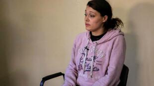 La jihadiste française Emilie Koenig, 33 ans, arrêtée par les forces kurdes (YPG) en décembre 2017 dans le nord est de la Syrie.