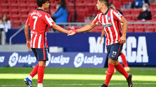 When Luis Suarez came on Joao Felix went off, as did Diego Costa, sparking discussion of how Atletico Madrid could keep all their strikers happy