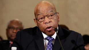 Rep. John Lewis (D-GA) testifies to the Senate Judiciary Committee during the second day of confirmation hearings on Senator Jeff Sessions' (R-AL) nomination to be US attorney general in Washington, US, January 11, 2017.
