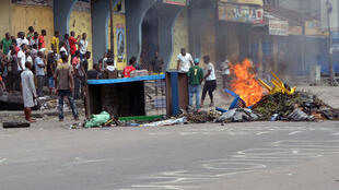 Protesters angered by a proposed election law in DR Congo's capital of Kinshasa