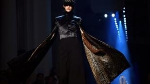 Purr without fur: French designer Jean Paul Gaultier used animal prints for his first fur-less Paris haute couture show