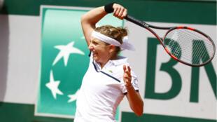 Timea Bacsinszky, qualifiée pour les demi-finales de Roland-Garros.