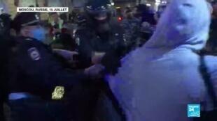 2020-07-16 09:09 Russie : Plus de 140 arrestations à Moscou après une manifestation contre la révision constitutionnelle
