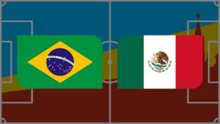 مباراة مثيرة بين البرازيل والمكسيك في ثمن نهائي مونديال روسيا. 2018/07/02
