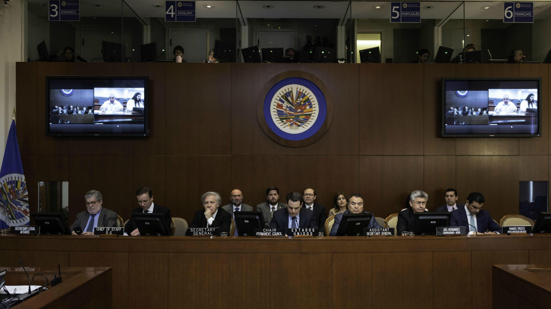 """Sesión extraordinaria del Consejo Permanente de la OEA convocada para considerar """"La situación en Nicaragua"""". Cinco de abril de 2019."""