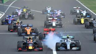 Les pilotes de Formule 1 lors du Grand Prix de Hongrie, sur le Hungaroring près de Budapest le 4 août 2019