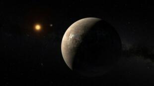 صورة تعبيرية للكوكب بروكسيما بي يدور حول النجم القزم بروكسيما سينتاوري