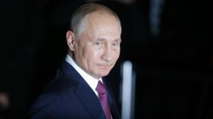 Le président russe Vladimir Poutine, le 19 octobre 2016 à Berlin.