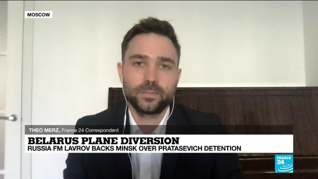 2021-05-24 16:03 Russia backs Belarus after plane diversion to Minsk, Pratasevich detention
