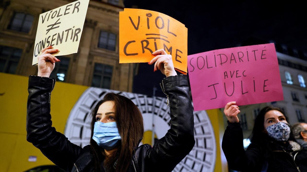 France rape protest age consent