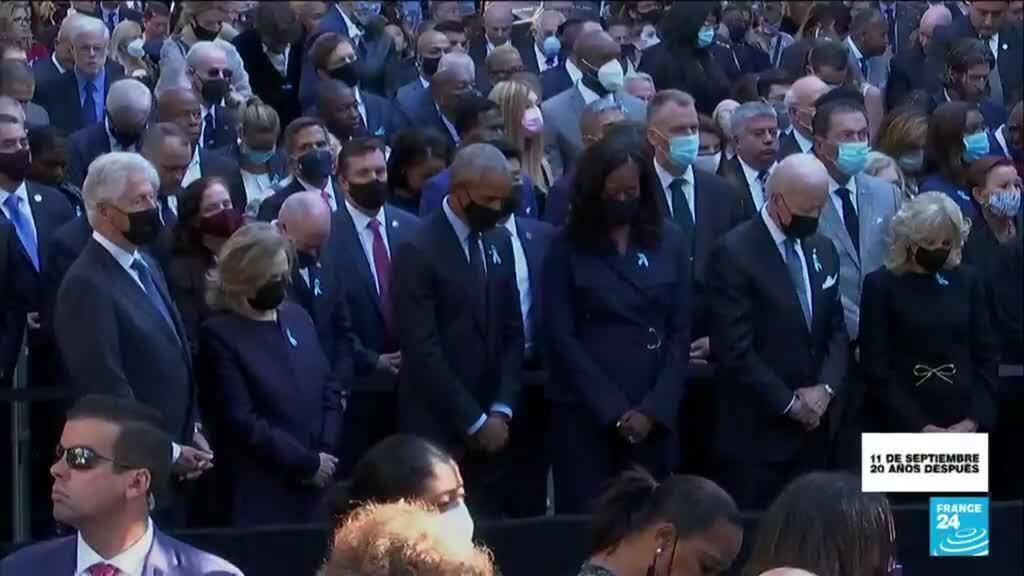 2021-09-11 19:01 En muestra de unidad, Biden, Clinton y Obama acudieron juntos a los actos conmemorativos por el 11-S