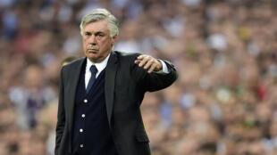 L'entraîneur Carlo Ancelotti, le 13 mai 2015, lors de la demi-finale de la Ligue des champions