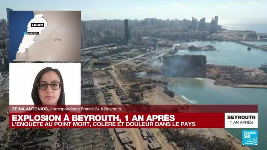 """2021-08-04 15:00 Explosion de Beyrouth, un an après : """"Un moment très émouvant à la caserne des pompiers de Beyrouth"""""""