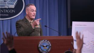 Le chef d'état-major américain Joe Dunford à Washington, lundi 23 octobre.