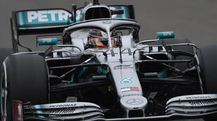 Mercedes' British driver Lewis Hamilton drives his car during the Formula 1 Chinese Grand Prix in Shanghai on April 14, 2019.