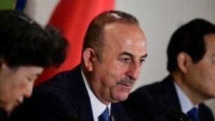 وزير الخارجية التركي مولود تشاوش أوغلو في طوكيو، 6 نوفمبر/تشرين الثاني 2018