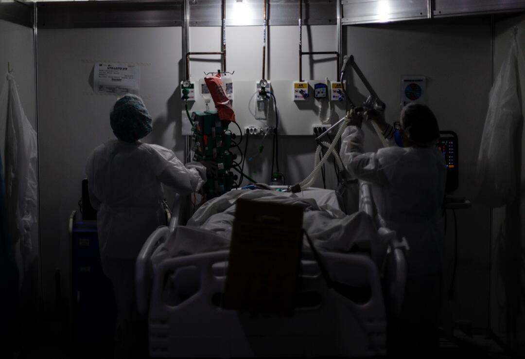 Una sala de emergencias en Brasil en medio de la pandemia.
