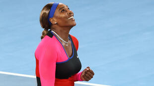 Serena Williams durante el Abierto de Australia en Melbourne, el 16 de febrero de 2021