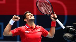 Novak Djokovic won his first match of the season at the ATP Cup