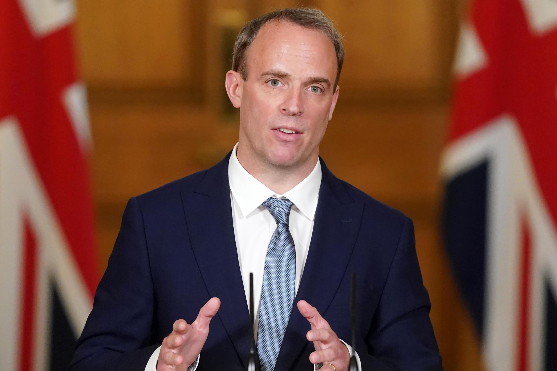 Le ministre britannique des Affaires étrangères Dominic Raab, le 15 juin 2020, à Londres.