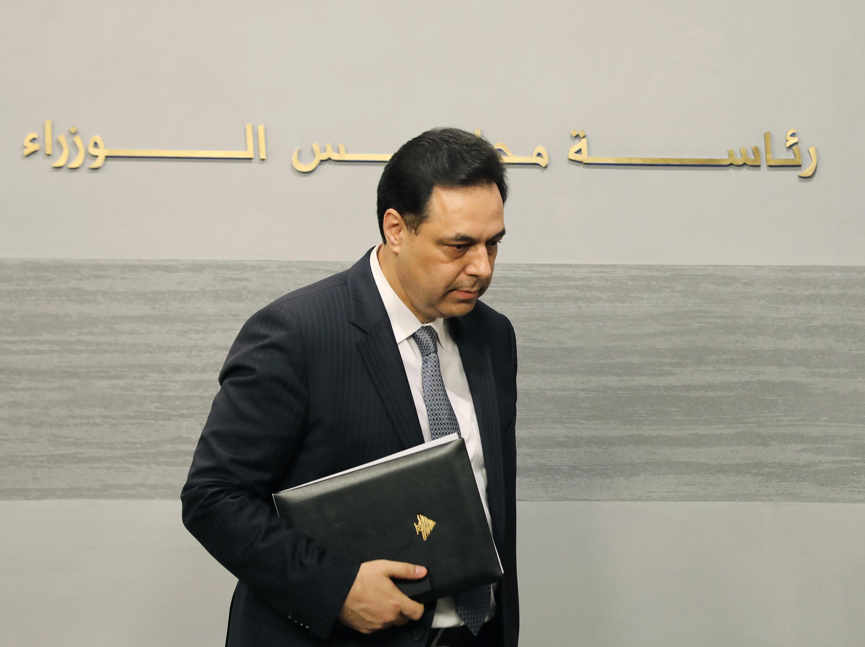 رئيس الحكومة اللبنانية حسان دياب.