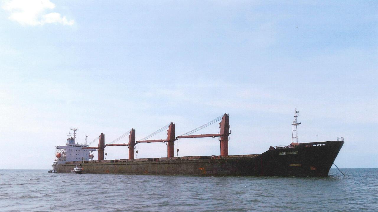 """Foto sin fechar cedida por el Departamento de Justicia de Estados Unidos que muestra al buque norcoreano """"M/V Wise Honest"""", confiscado por el Gobierno de  Estados Unidos, por violar las sanciones internacionales."""