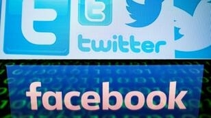 شعار تويتر وفيسبوك