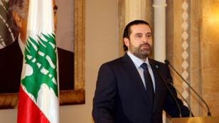 Saad Hariri, lors d'une conférence de presse au Liban, le 20 octobre 2016.