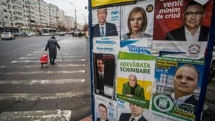 ROMANIA ELECTION CORONAVIRUS SHADOW